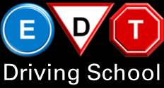 The EDT driving school logo